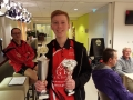 1e plaats A jeugd en clubkampioen: Steven